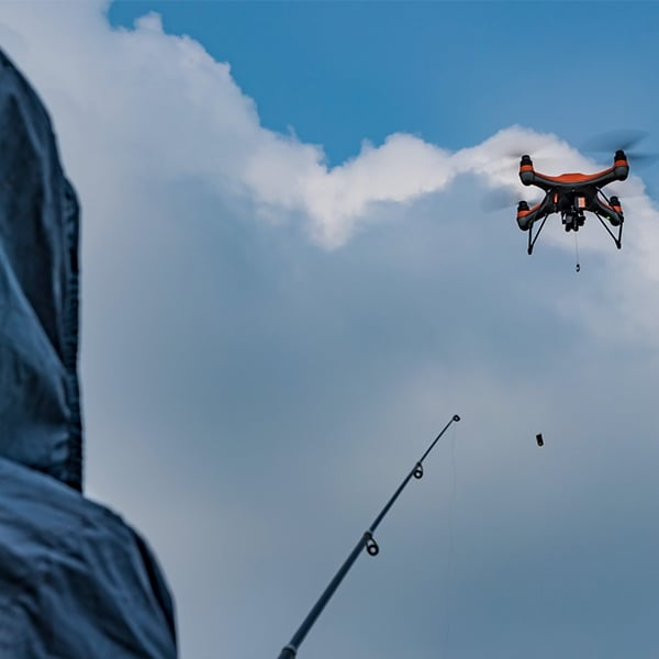 Using a Drone with TrollSafe attached.