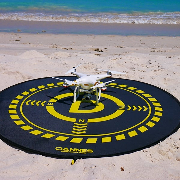 Beach fishing with a drone - OANNES Landing Pad
