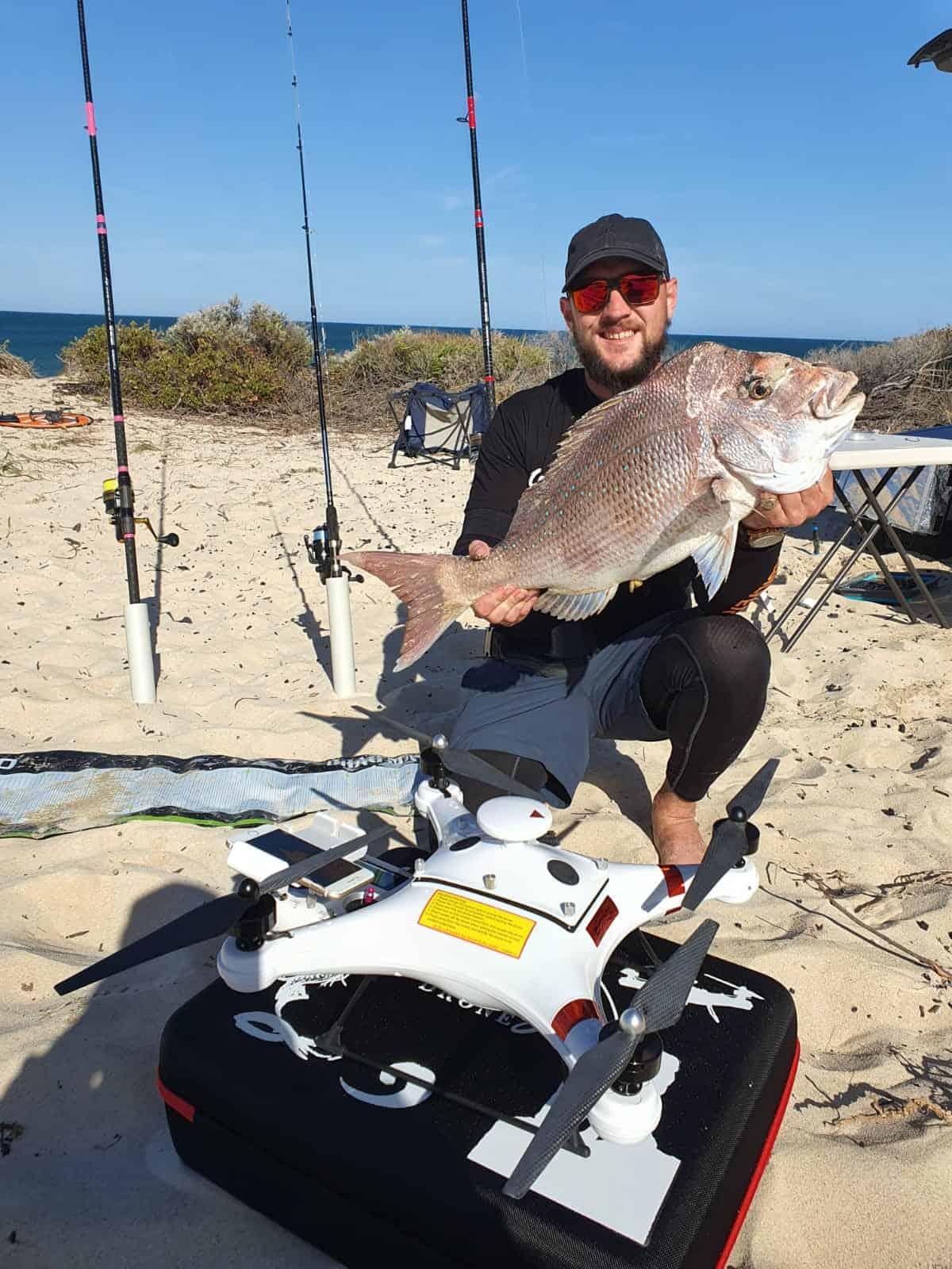 Winter drone fishing in Western Australia