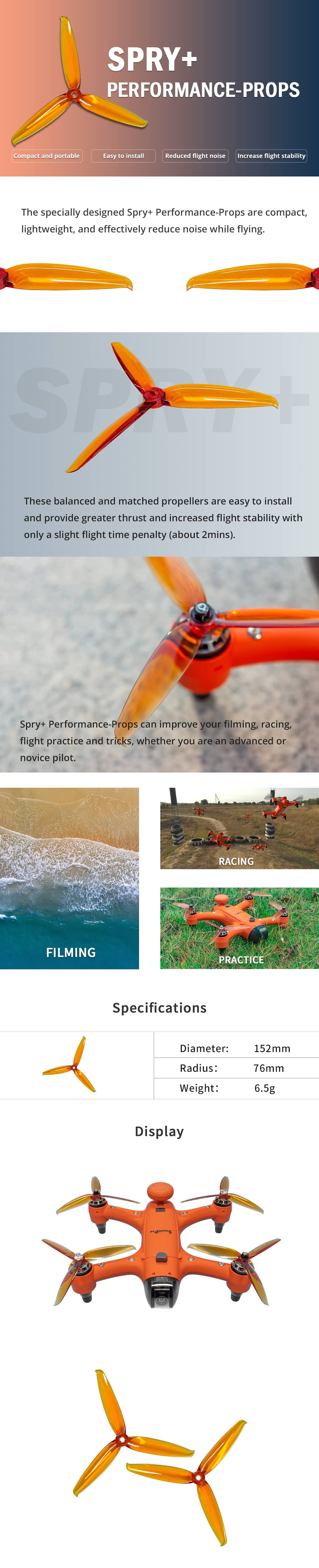 Swellpro Spry+ Performance Props