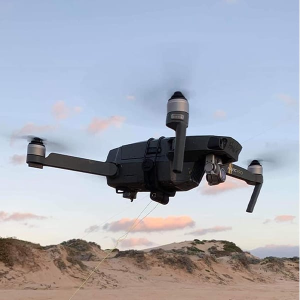 SkyClip drone fishing Bait release for DJI Mavic and Mavic 2 Drones