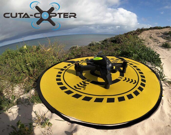Cuta-Copter fishing drone landing on OANNES PAD