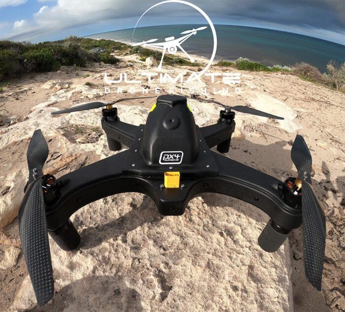 Cuta-Copter Waterproof Drone Landing on Rocks